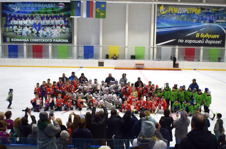 В Ледовом дворце прошёл открытый Турнир по хоккею с шайбой среди детей