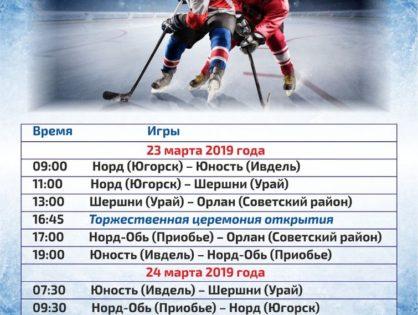 Расписание открытого турнира по хоккею